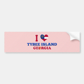 I Love Tybee Island, Georgia Car Bumper Sticker