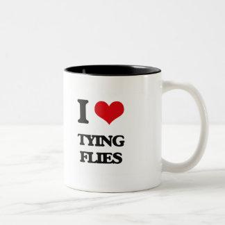 I love Tying Flies Two-Tone Mug