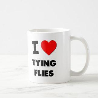I Love Tying Flies Coffee Mugs