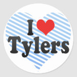 I Love Tylers Classic Round Sticker