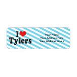 I Love Tylers Return Address Label