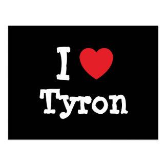 I love Tyron heart custom personalized Postcard
