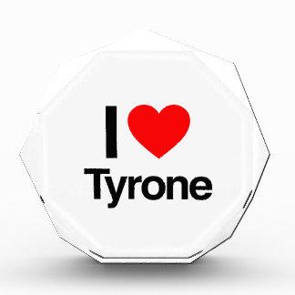 i love tyrone acrylic award