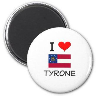 I Love TYRONE Georgia 2 Inch Round Magnet