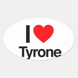 i love tyrone oval sticker
