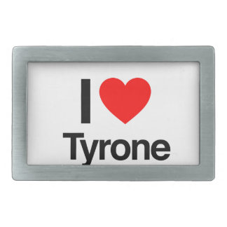 i love tyrone rectangular belt buckle