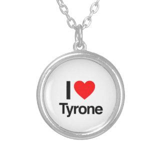i love tyrone round pendant necklace