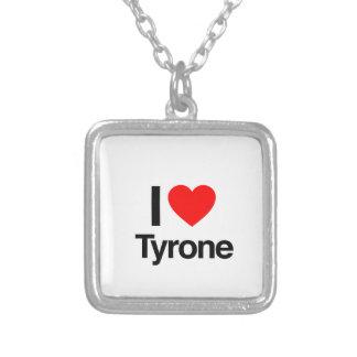 i love tyrone square pendant necklace