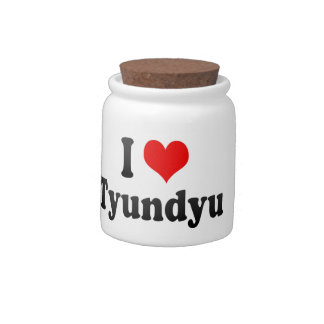 I Love Tyundyu, Korea Candy Jar
