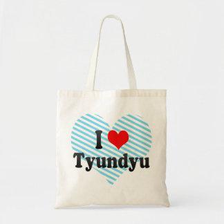 I Love Tyundyu, Korea Canvas Bags