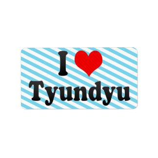 I Love Tyundyu, Korea Custom Address Labels