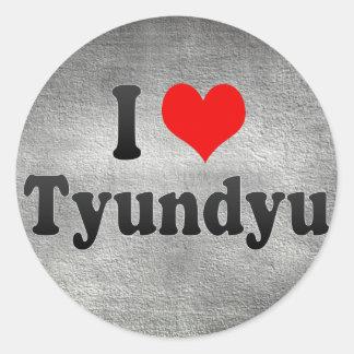 I Love Tyundyu, Korea Round Stickers