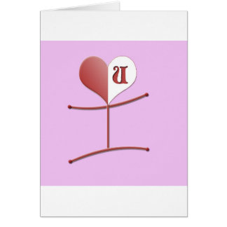 """I Love U"" All Occasions Card"