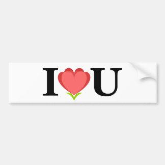 I Love U Bumper Sticker