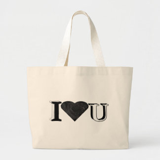 I Love U Canvas Bag