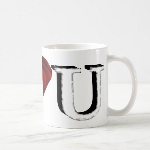 I Love U Classic White Coffee Mug