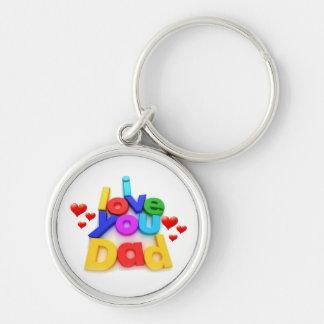 i love U Dad Keychain
