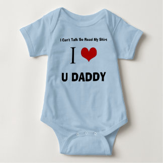 I Love U Daddy Baby Bodysuit