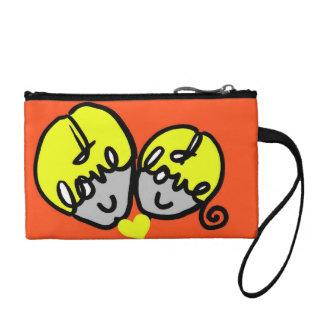 I love u face clutch change purse