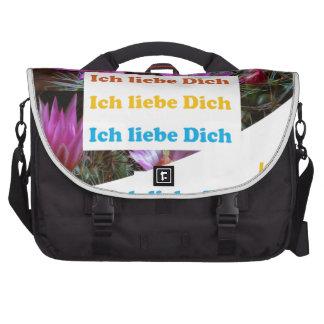 i love U :GERMAN LANGUAGE CULTURE ARTS Bags For Laptop