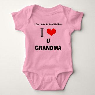 I Love U Grandma Baby Bodysuit