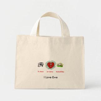 i love u , I Love Ewe Bag