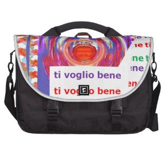 I love U: Italian Italy ti voglio bene language Laptop Bag