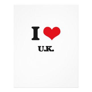"I love U.K. 8.5"" X 11"" Flyer"