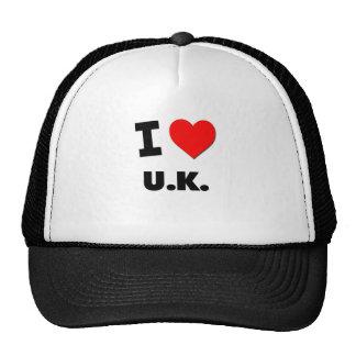 I love U K Trucker Hats