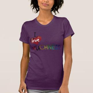 I Love U MUCHNESS Inspirational Glitter T-shirt