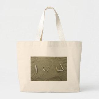 I love U on the beach Bag