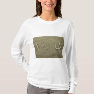 I love U on the beach T-Shirt
