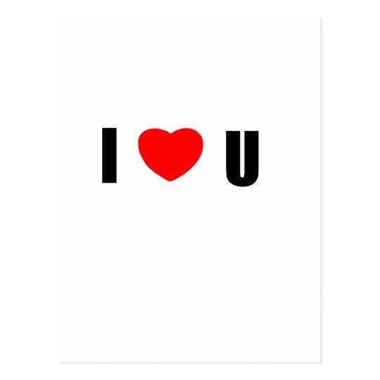 I love U Postcard