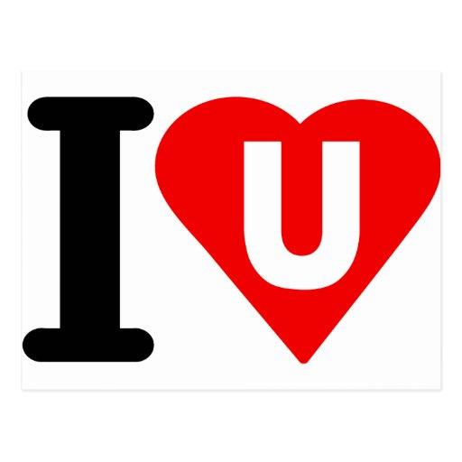 I-LOVE-U. POSTCARD