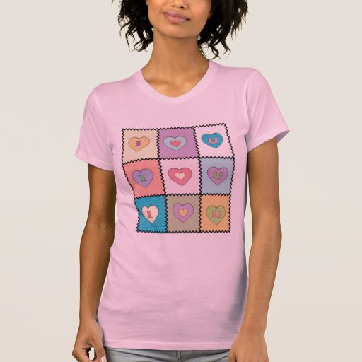 I-Love-U-Quilt2 Camiseta