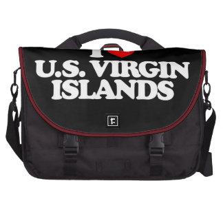 I LOVE U.S. VIRGIN ISLANDS BAGS FOR LAPTOP