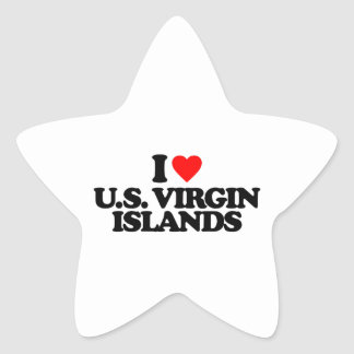 I LOVE U.S. VIRGIN ISLANDS STAR STICKER