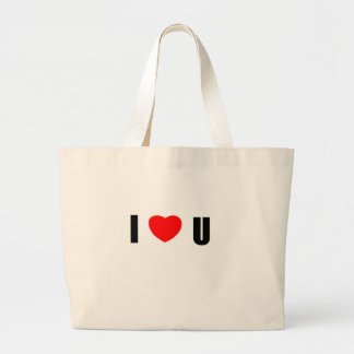 I love U Tote Bags