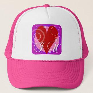 i love u trucker hat