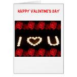 I LOVE U Valentine's Day Card