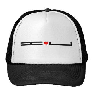 i love u (you) trucker hat