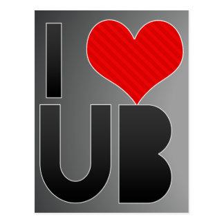 I Love UB Postcard