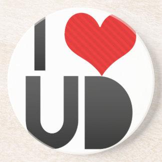 I Love UD Drink Coaster