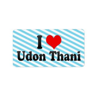 I Love Udon Thani, Thailand Personalized Address Labels