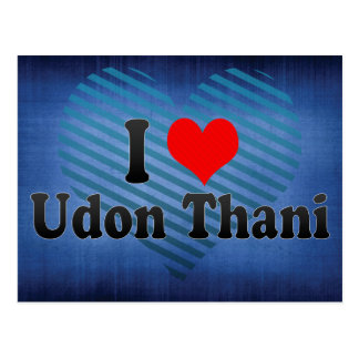 I Love Udon Thani, Thailand Postcard