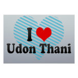 I Love Udon Thani, Thailand Poster