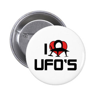 I Love UFO's 2 Inch Round Button