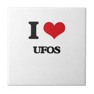 I love Ufos Small Square Tile