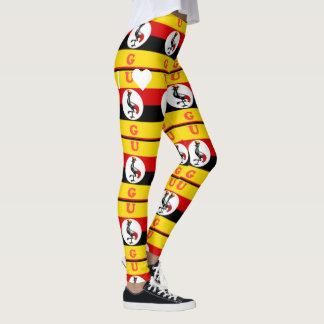 I Love UG monogram crane colorful design Leggings