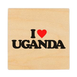 I LOVE UGANDA WOOD COASTER